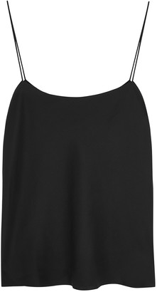 The Row Biggins Black Satin Top