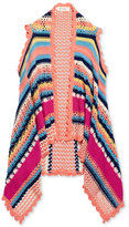 Jessica Simpson Striped Open-Front Vest, Big Girls (7-16)