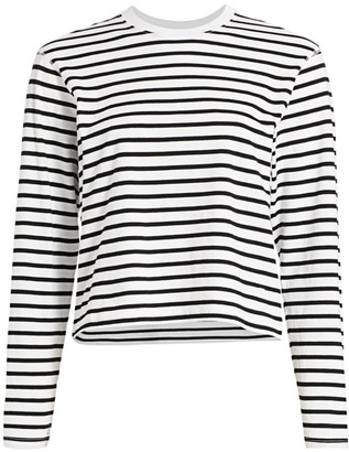 ATM Anthony Thomas Melillo Classic Jersey Stripe Long-Sleeve Tee