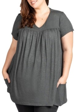 Savi Mom Tara Plus Size Maternity and Nursing Lounge Tee, Online Only