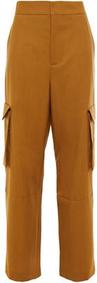 Marni Grain De Poudre Wool Wide-leg Pants