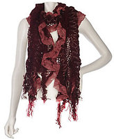 Collection XIIX As Is Ruffle Lace Muffler with Fringe