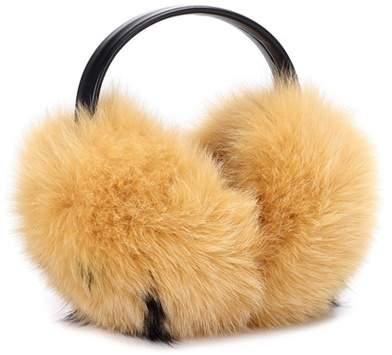 Anya Hindmarch Smiley fur ear muffs