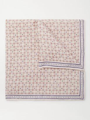 Brunello Cucinelli Printed Linen And Cotton-Blend Pocket Square
