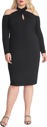Rachel Roy Simone Long Sleeve Cold Shoulder Jersey Dress