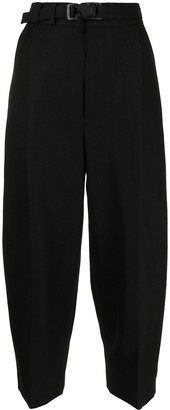 Y's Cropped Wool Tailored Trousers