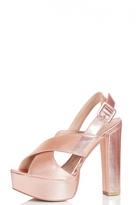 Quiz Rose Gold Metallic High Heel Sandals