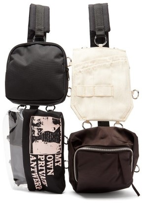 Raf Simons X Eastpak - Multi-pouch Technical-canvas Backpack - Black Multi