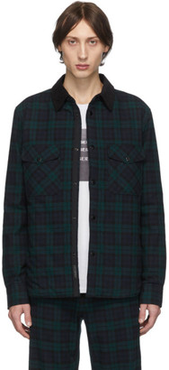 Rag & Bone Black Plaid Padded Shirt Jacket