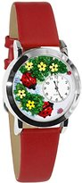 Whimsical Watches Women's S1210004 Ladybugs Red Leather Watch
