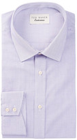Ted Baker Silsurf Long Sleeve Trim Fit Gingham Dress Shirt