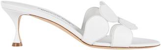 Manolo Blahnik Haribalmu Leather Slide Sandals