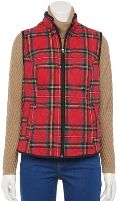Croft & Barrow Women's Woven Quilted Vest