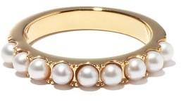 Otiumberg Pearl & 14kt Gold-vermeil Eternity Ring - Pearl