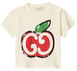 Gucci Kids Cotton Jersey w/ Print T-Shirt (Infant) (Sunkissed/Multicolor) Girl's Clothing