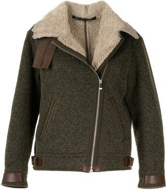 Muller of Yoshio Kubo Shearling Aviator-Style Jacket