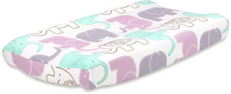The Peanut Shell The Little Peanut Lilac Elephants Changing Pad Cover