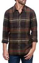 Lucky Brand Olive Stretch Button-Down Shirt