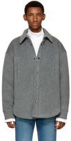 Balenciaga Grey Wool Overshirt