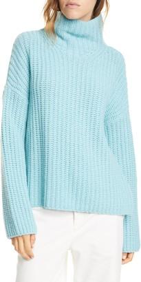 Vince Lofty Wool Blend Funnel Neck Sweater