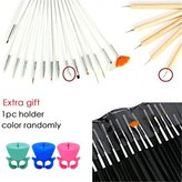 Glam Hobby Pro 20-Piece Gel Acrylic Nail Art Brush Kit