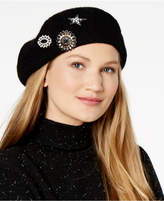 INC International Concepts Embellished Brooch Beret, Created for Macy's