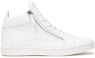 Giuseppe Zanotti Pebbled-leather Sneakers