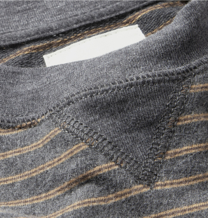 Billy Reid Martin Striped Cotton-Blend Jersey Sweatshirt