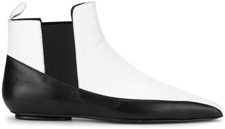Rosetta Getty Two-Tone Ankle Boots