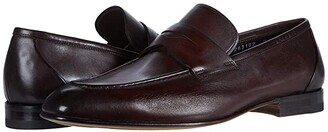 Santoni Gannon-2 (Brown) Men's Slip on Shoes