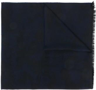 Ermenegildo Zegna Frayed Embroidered Scarf