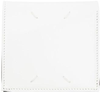 Maison Margiela White and Black Calfskin Zip Wallet