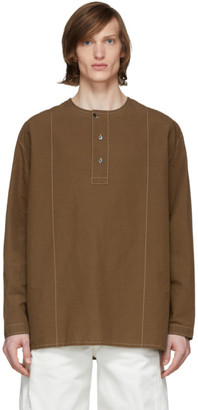 Lemaire Tan Long Sleeve Henley