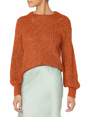 ASTR the Label Women's Dora Chunky Cable Knit Classic Sweater