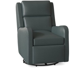 Bradington-Young Willow Power Recliner Body Fabric: Outsider Cloud, Cushion Fill: Spring Down, Reclining Type: Power Button with Battery Pack