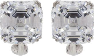 FANTASIA Cubic Zirconia Square Stud Earrings
