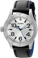 Nixon Women's A4672184 38-20 Leather Analog Display Japanese Quartz Black Watch