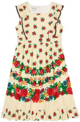 Gucci Kids Printed cotton-blend dress