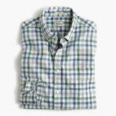 J.Crew Slim Secret Wash shirt in heather poplin faded check