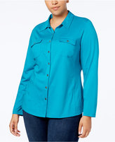 Karen Scott Plus Size Shirt, Created for Macy's