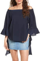 J.o.a. Flare Sleeve Off the Shoulder Blouse
