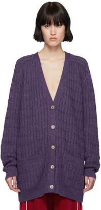 Gucci Purple Lurex Oversized Cardigan