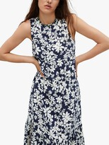 Thumbnail for your product : MANGO Flowy Floral Midi Dress, Navy/White