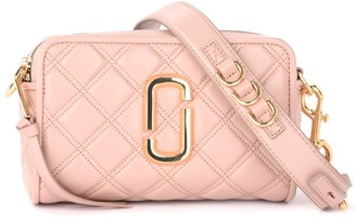 Marc Jacobs Softshot 21 Model Shoulder Bag In Nude Quilted Leather