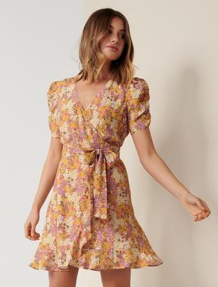 Forever New Trina Wrap Mini Dress - Meadow Garden - 4