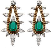 Elizabeth Cole Jewelry Chain and Crystal Chandelier Earrings