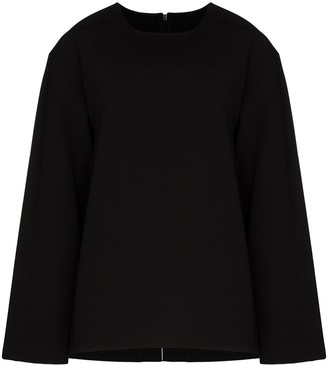 Maison Margiela Scuba Back Long-Sleeved Top