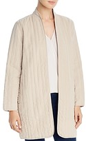 Eileen Fisher Open-Front Quilted Jacket