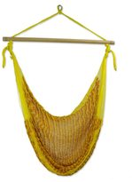 Novica Handcrafted Cotton 'Maya Sunflower' Hammock Swing Chair (Mexico)