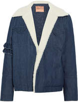 Maggie Marilyn Made For Greatness Shearling-trimmed Denim Jacket